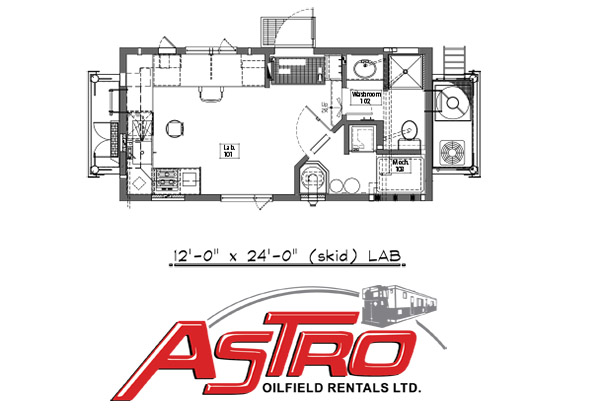 Geo Lab Wellsite Trailer Floor Plan