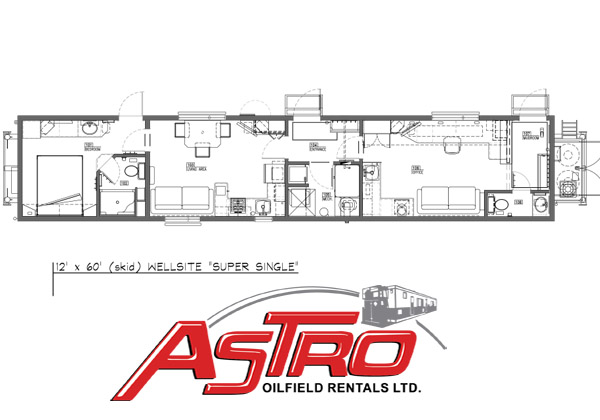 Super Single Wellsite Trailer Floor Plan